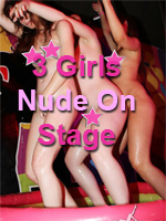 3 Girls Nude on Stage