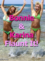 Bonnie and Karina Flaunt It in their Bikini for UGotItFlauntIt