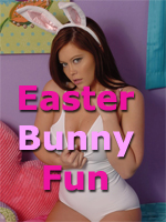 Brooke Lima is the Easter Bunny in a White Leotard