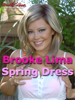 Brooke Lima in a Spring Dress