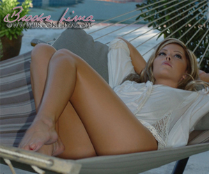 Brooke Lima Relaxing in her Hammock