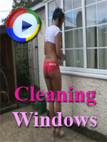 Cleaning Windows on Downblouse Loving