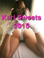 Kari Sweets in White Lace Panties