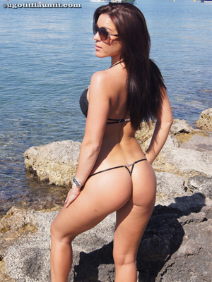 Martina Poses on UGotItFlauntIt in her Thong Bikini