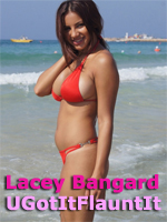 Lacey Banghard Poses for UGotItFlauntIt